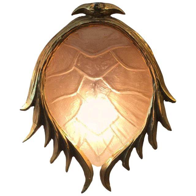 Resin Tortoise Shell in Gilt Metal Wall Light, Manner of Tony Duquette - Image 1 of 6