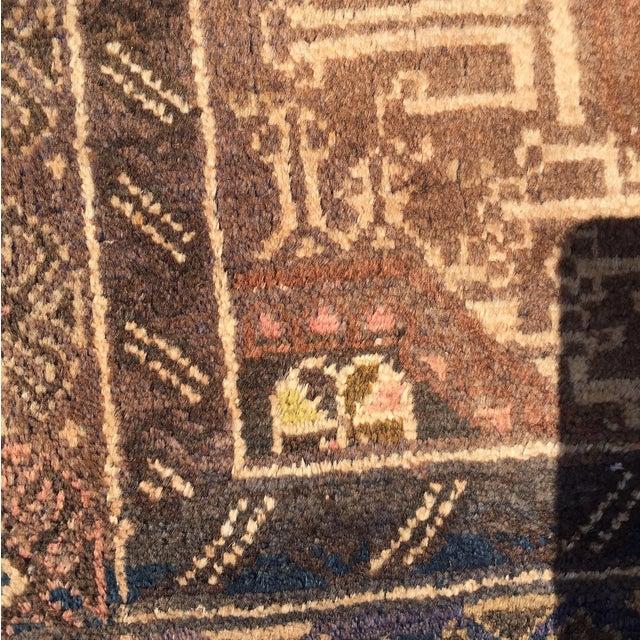 "Vintage Baluchi Persian Rug - 2'10"" x 4'1"" - Image 10 of 11"