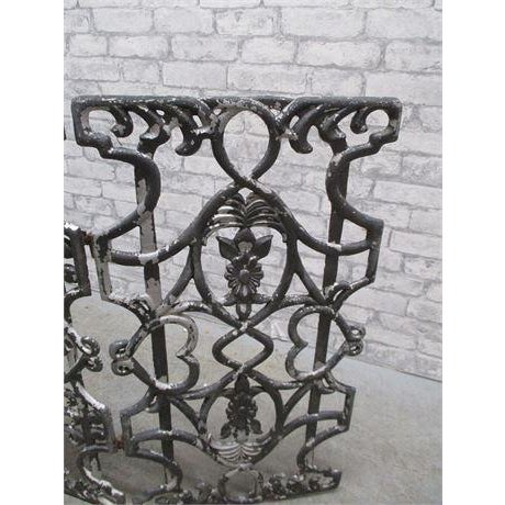 Early 20th Century Antique Cast Iron Fireplace Screen For Sale - Image 4 of 5