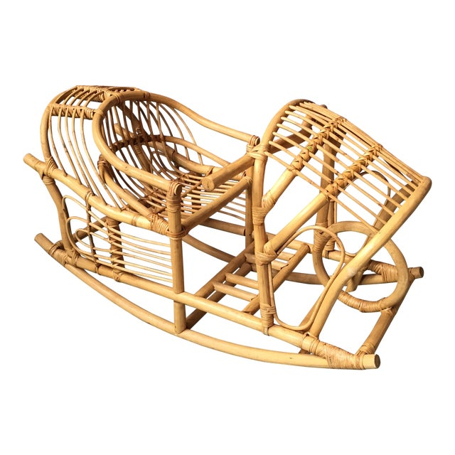 Vintage Child's Rattan Rocking Toy - Image 1 of 11