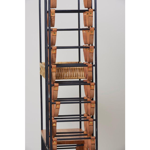 Animal Skin Wrought Iron Wine Rack by Arthur Umanoff for Raymor , Us, 1950s For Sale - Image 7 of 8