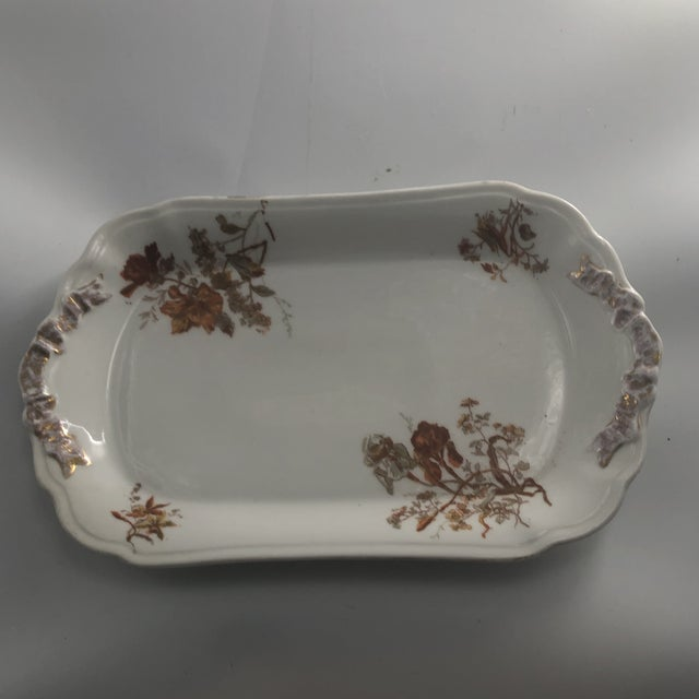 Ceramic 1940s French Limoge Holiday Serving Platter For Sale - Image 7 of 7