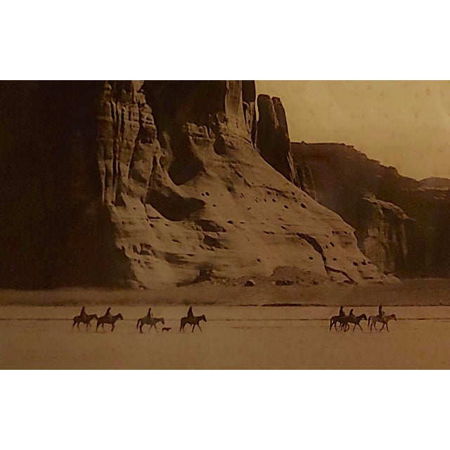 Cabin Edward Curtis -Navajo Canyon De Chelly -1904 Original Orotone-Rare For Sale - Image 3 of 9
