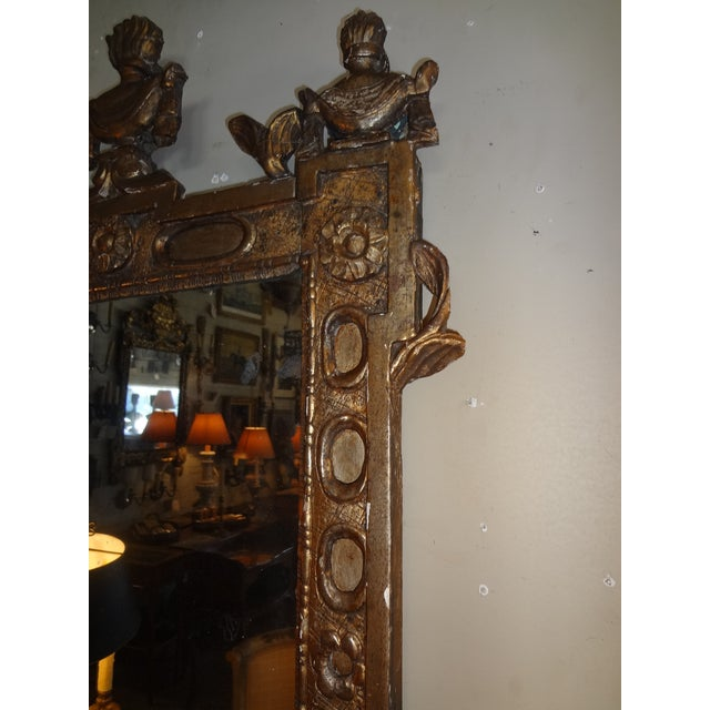 Mid 18th Century 18th Century Italian Gilt Wood Mirror For Sale - Image 5 of 9