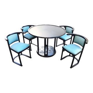 """Josef Hoffmann """"Fledermaus"""" Dining Set For Sale"""