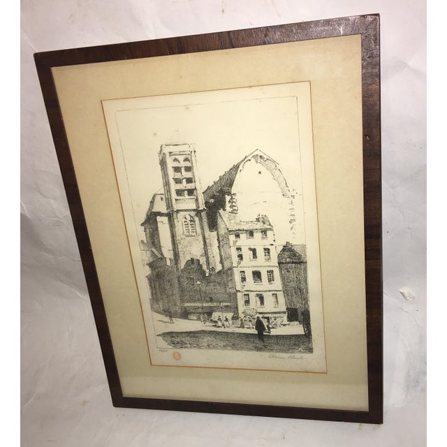Early 20th Century Antique European Town Scene Lithograph Print For Sale In New York - Image 6 of 7