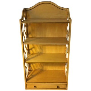 Yellow Painted George III-Style Bookcase For Sale