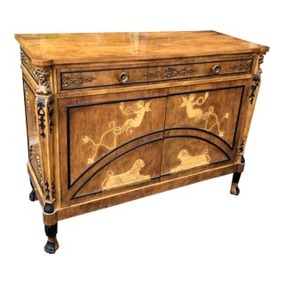 Giuseppe Maggiolini Style Italian Neoclassical Inlaid Buffet Commode Cabinet For Sale