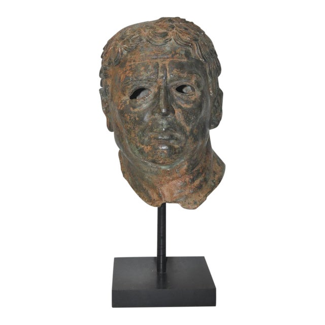 19th Century Bronze Head After Greek Antiquities For Sale