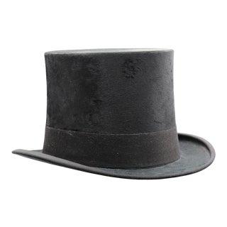 Vintage Black Top Hat For Sale