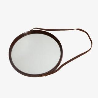 1950's Round Walnut Mirror Preview