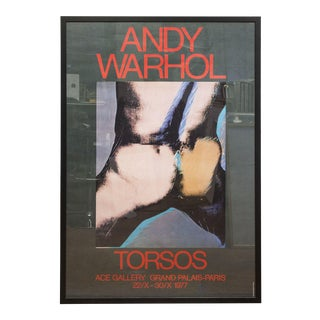 1977 Torsos Framed Poster by Andy Warhol For Sale