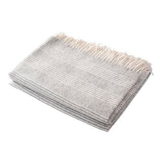 Contemporary Stripe Alpaca Cloud Throw For Sale