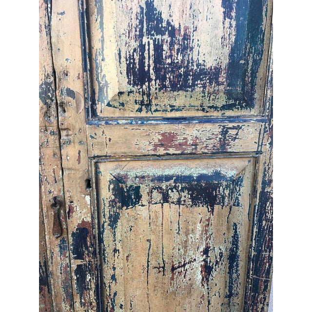 Rustic Pair of 19th Century Painted Doors For Sale - Image 3 of 9