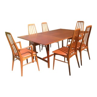 1940s Vintage Koefoeds Hornslet Danish Modern Dining Set - 7 Pieces For Sale