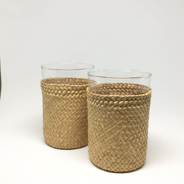 1980s Rattan-Cased Glasses - A Pair - Image 6 of 6