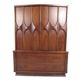 Mid-Century Sculptural Walnut Gentleman's Chest For Sale