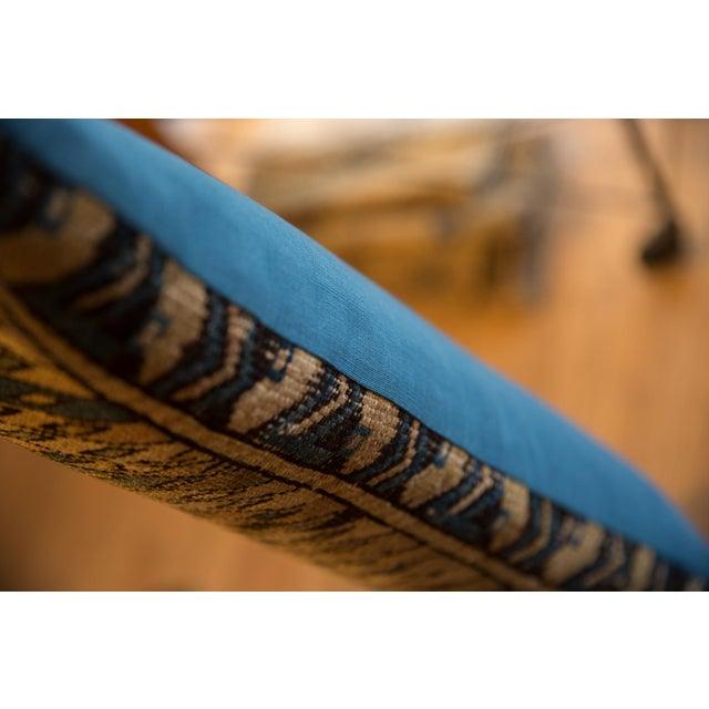 Rustic Reclaimed Vintage Caucasian Rug Lumbar Pillow For Sale - Image 3 of 7