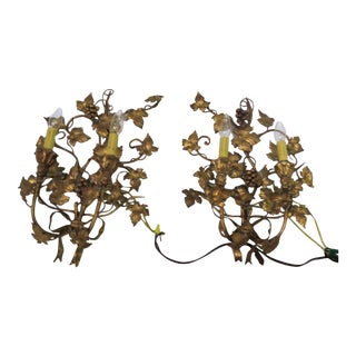 1950's Italian Wrought Iron Sconces - A Pair