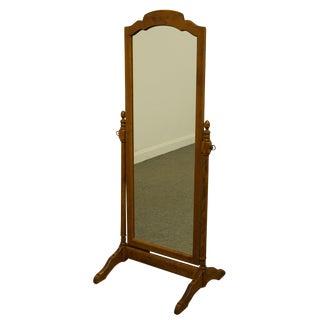 Ethan Allen Heirloom Nutmeg Maple Standing Floor Mirror For Sale