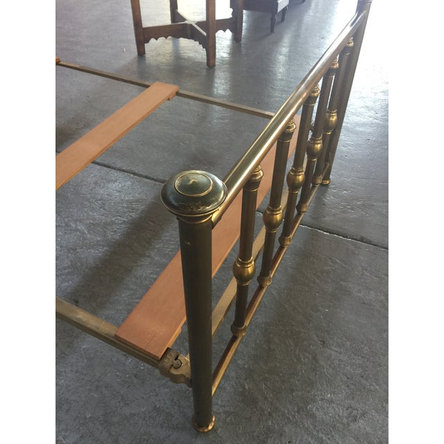 Gold Antique Full Size Brass Bed For Sale - Image 8 of 12