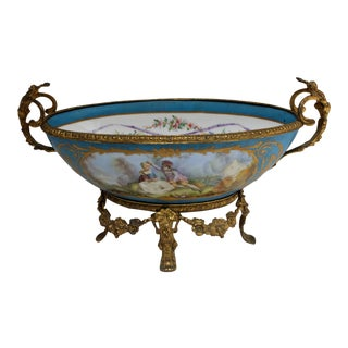 Bronze Mounted Center Piece Bowl For Sale