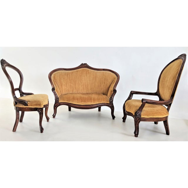 Child's Size Victorian Parlor Set - 3 Pieces For Sale - Image 13 of 13