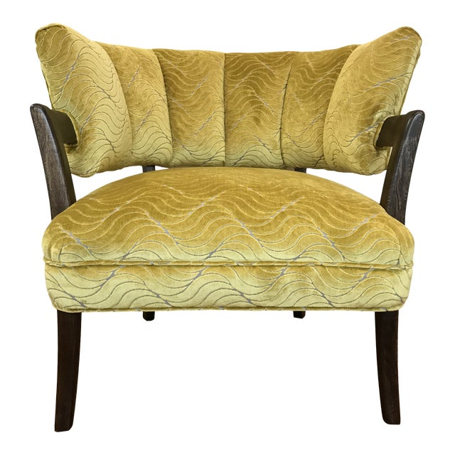 1940s Vintage Billy Haines Era Channel Back Chair For Sale