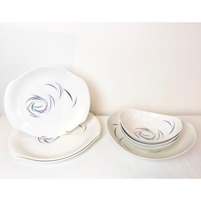 Vintage 1950s Raymor Universal Sans Souci Pattern Serving Platters & Bowls Set, 7 Pieces For Sale - Image 10 of 10