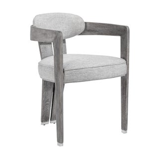 Maryl II Dining Chair - Grey Linen For Sale