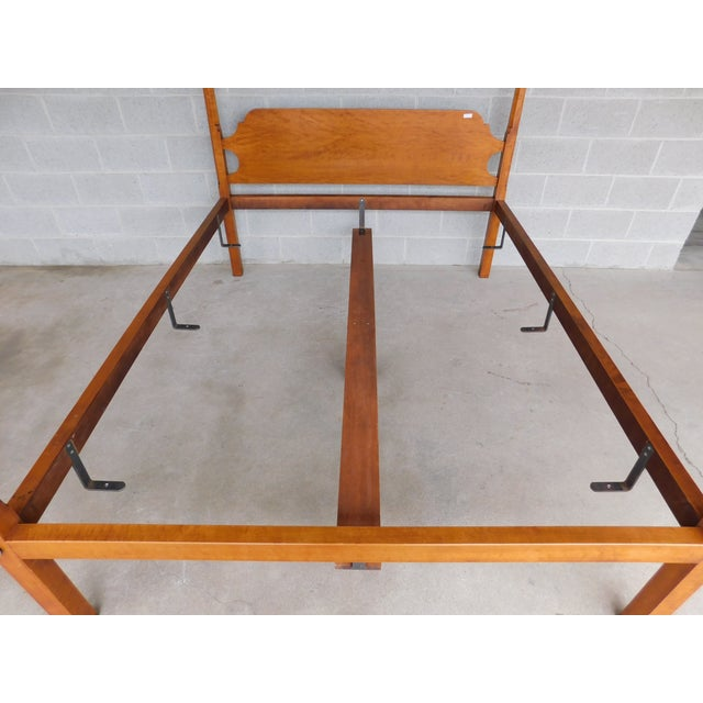 Wood Eldred Wheeler Shaker Style Tiger Maple Queen Size Tester Poster Bed For Sale - Image 7 of 13