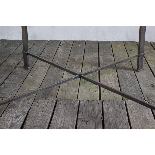 French Iron Table With 19th Century Wood Top For Sale In New York - Image 6 of 9
