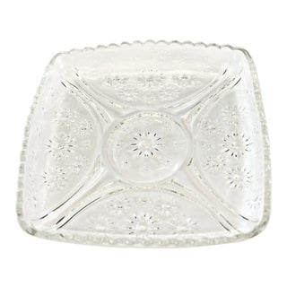 Mid 20th Century Floral Divided Square Tray For Sale