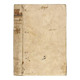 1520s Antique Vellum Book, Herodian's Roman History For Sale