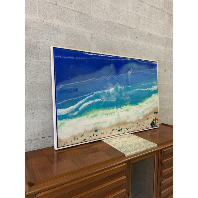 Abstract Abstract Framed Oil Painting With Resin on Canvas by Franchy For Sale - Image 3 of 13