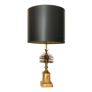 1960s Vintage Maison Charles Style Pine Cone Table Lamp For Sale