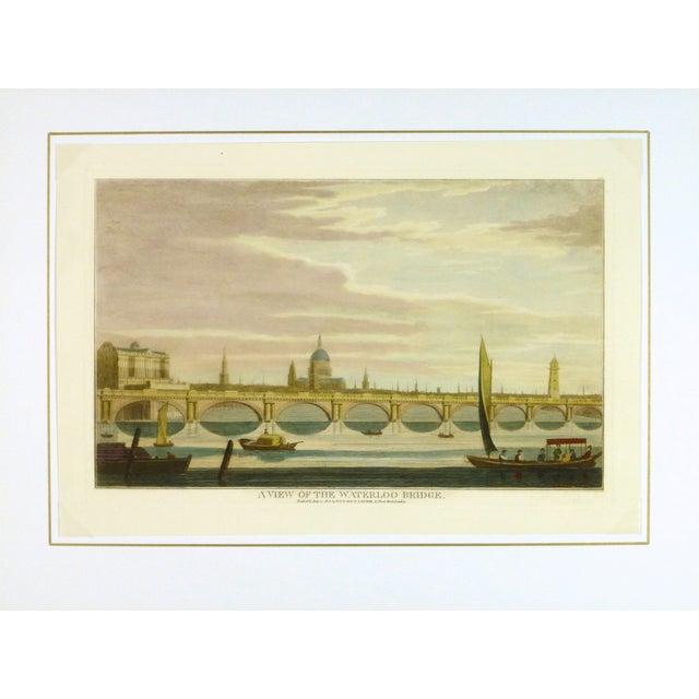 Waterloo Bridge Print, London Engraving - Image 3 of 3