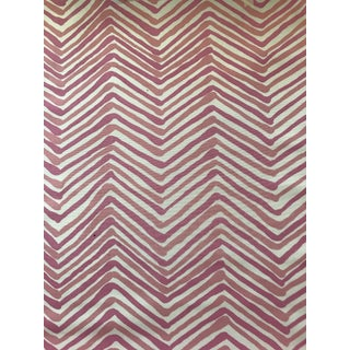 China Seas Zig Zag II Pink Fabric - 1 5/8 For Sale