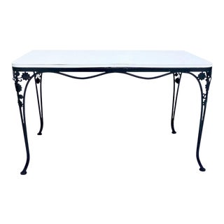 Mid-Century Woodard Iron Floral & Vine Dining Table