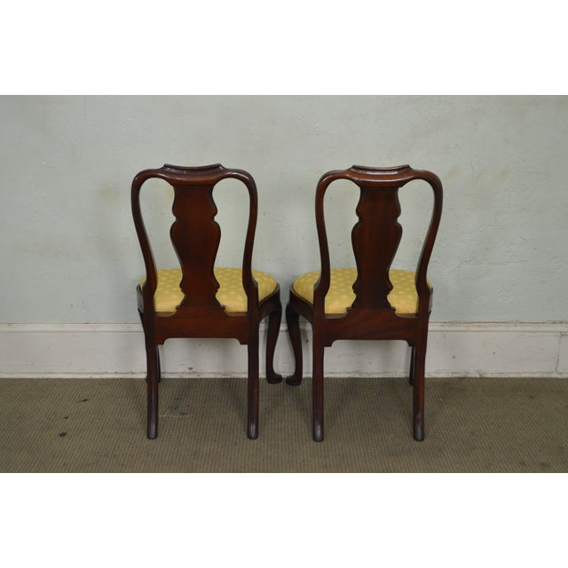 Hickory Chair Co. Set of 6 Mahogany Queen Anne Style Dining Chairs - Image 4 of 10