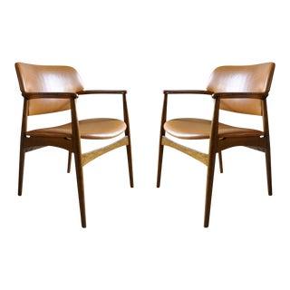 Ejner Larsen & Aksel Bender Madsen Pair of Armchairs For Sale