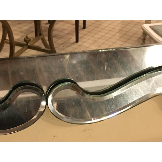 Venetian Style Over Mantle or Console Mirror For Sale In New York - Image 6 of 8