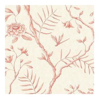 Lewis & Wood Jasper Peony Rose Botanic Style Wallpaper Sample For Sale