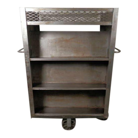 Large Industrial Metal Rolling Cart For Sale