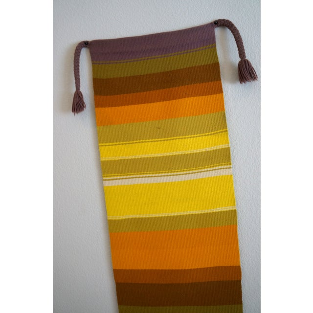 Mid-Century Handwoven Wall Hanging - Image 3 of 6