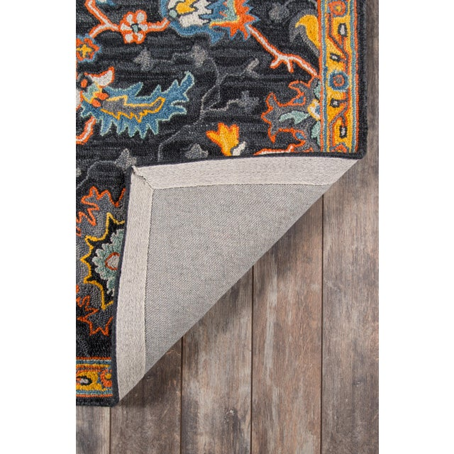 """2010s Ibiza Charcoal Hand Tufted Area Rug 2'3"""" X 7'10"""" Runner For Sale - Image 5 of 7"""