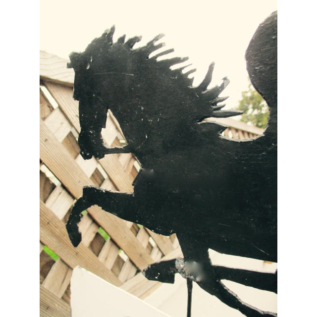 """Rusty Iron """"Antiques"""" Trade Sign Pegasus Horse - Image 6 of 11"""