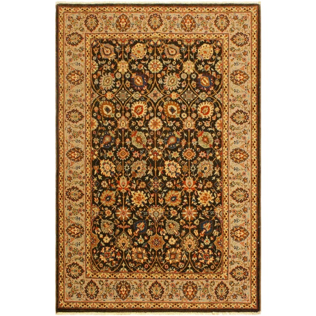 Istanbul Claris Brown/Lt. Tan Turkish Hand-Knotted Rug -4'3 X 6'2 For Sale
