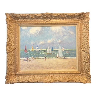 Regatta Niek Van Der Plas Framed Painting For Sale