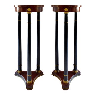 Fine Arts Furniture Grand Rapids French Empire Pedestals -a Pair